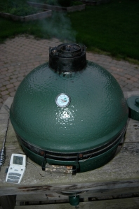 Exterior view of the Big Green Egg