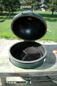 Interior view of the Big Green Egg