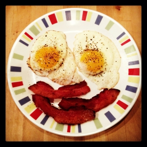 Bacon makes a breakfast plate happy