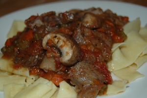 Braised Short Ribs, over Homemade Pappardelle