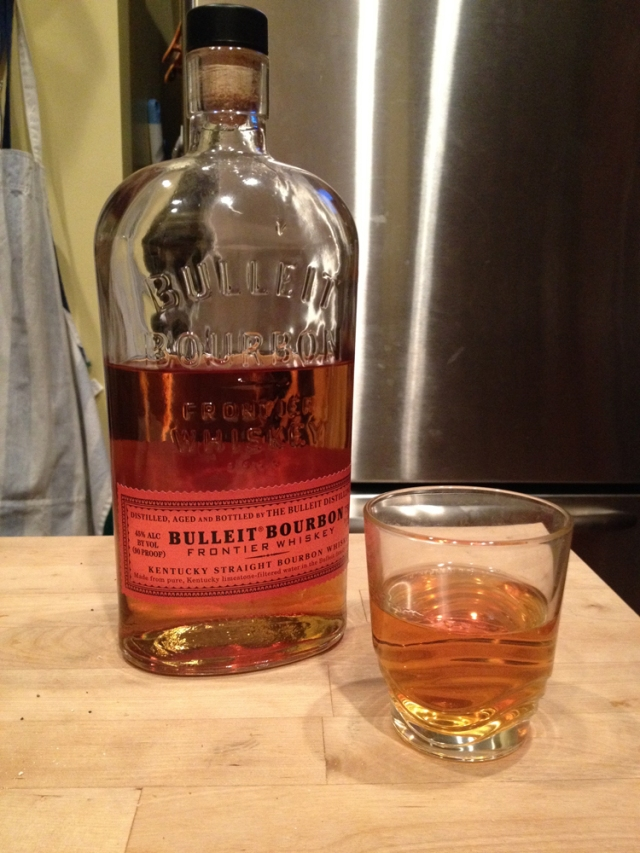 Bulleit Bourbon, a bachelor's dessert